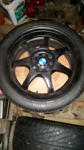 "16"" BMW wheels with almost new nitto nt450  tires"