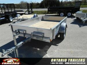 Sure-Trac 5x8 Galvanized Tilt- Single Axle with Solid Sides