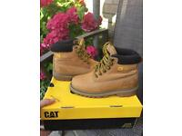 CAT boots size 6 as new with box