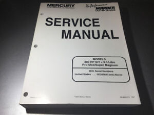 Mercury Mariner Super Magnum Pro Max 300 HP 3.0L Shop Manual