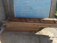 Aris rail fencing feather edge board fence panels *price lowered*
