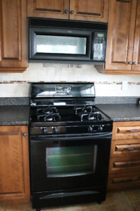 Whirlpool Gas Range and over the range Microvave oven