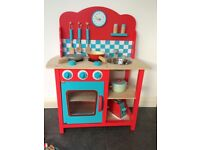 Wooden Toy Kitchen and Accessories - Good Condition
