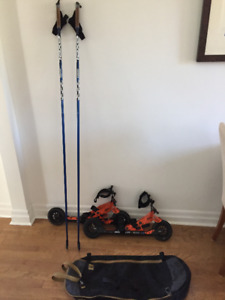Skike V8 Lift Cross for skate/classic with poles