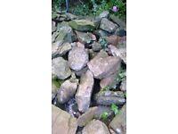 Large Garden rockery stones - crystalised limestone about 1ft average length (heavy!)