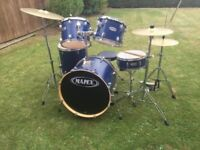 Mapex VX plasma series blue drum kit