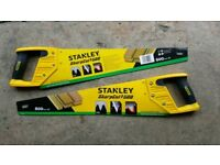 Pair of NEW STANLEY Sharpcut 500 General Purpose Heavy Duty Saws.