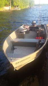 16 ft aluminum boat with 20hp yamaha