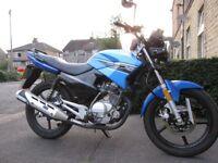 Honley HD1 125CC Motorbike 2014 Learner Legal, Helmet, Clothing, Chains & Alarm for sale