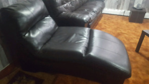Ashleys Bonded Leather Chaise and Sofa $800.00 OBO