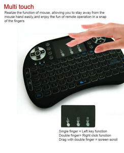 Wireless Mouse + keyboard 2.4GHz Bluetooth LED Touchpad TV BOX