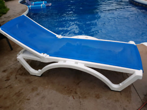 Blue lounge pool side chair - great for tanning