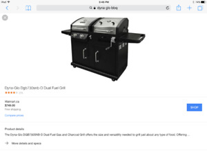 Awesome dual fuel barbecue