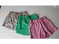 X3 pairs of next shorts 6/7 years