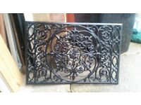 Black Wrought Iron Front Door Grate