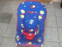 Baby rocker with long carry handles,3 recline positions £5 -the other rocker and walker £5 each