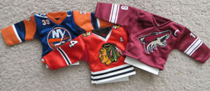 Hockey-Collectible-Lot-Mini-jerseys - Mini Cup and Esso Cards
