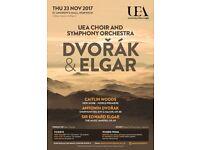 Dvořák and Elgar: UEA Choir and Symphony Orchestra Concert
