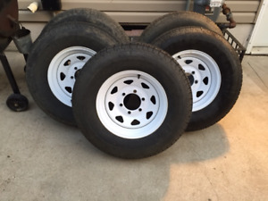 Trailer tires with rims