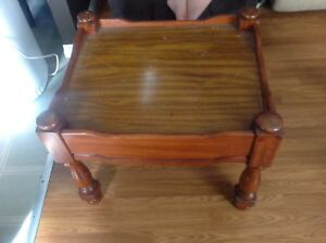 """Wooden side  table 21"""" tall x 26"""" wide x 22"""" deep"""