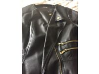 Ladies leather look jacket ex con
