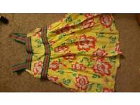Yellow floral John Lewis dress age 6
