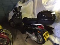 PIAGGIO LIBERTY 50cc SCOOTER, only 57 miles, complete with Duchinni FF Helmet and Weise Jacket