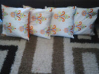 cushions with patterns x4