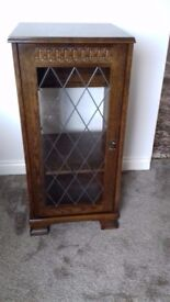small dark wood cabinet with 1 shelf suitable for hi fi unit