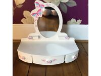 Childs wooden dressing table mirror