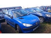2002 PEUGEOT 206 LX, 2.0 HDI, BREAKING FOR PARTS ONLY, POSTAGE AVAILABLE NATIONWIDE