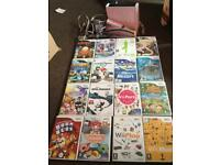 Wii bundle with 16 games, docking station, 2 controllers