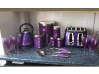 Purple kitchen set