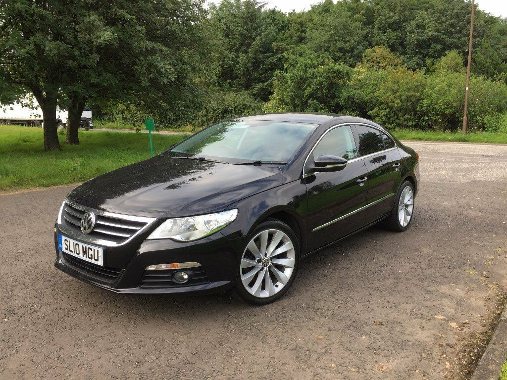 vw passat cc gt 2010 10plate 170bhp 2 0tdi diesel 4 door coupe dsg low miles black in. Black Bedroom Furniture Sets. Home Design Ideas