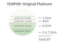 BRAND NEW EX DISPLAY TEMPUR ORIGINAL DELUXE 27 PLATINUM superking mattress absolute stunning