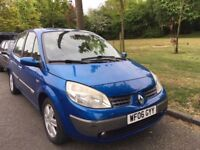 2006 AUTOMATIC RENAULT SCENIC DYNAMIQUE VVT MPV. BRILLIANT DRIVE. E/W. CENTRAL LOCKING.2 KEYS.NO VAT