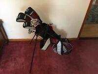 Willson deep red golf clubs