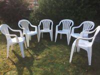 Garden chairs x 6
