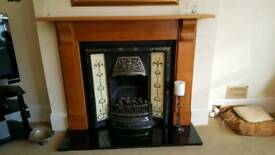 Victorian gas fire place and full surround for sale