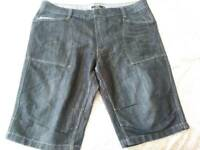 New George Long Denim Shorts 42w