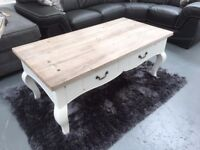 Coffee table, brand new, modern shabby chic, £195.