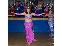 Pink/purple belly dance costume