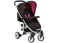Hauck Malibu All In One Travel System Caviar Berry