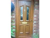 Light oak residential pvc front door