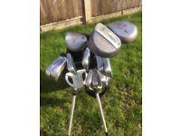 Fazer Tricept golf set, Pinseeker driver and 3 wood, Seal SL205 9 wood, Fazer Blizzard 2.0 putter