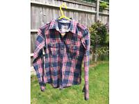 Hollister check cotton shirt size small