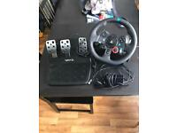 Logitech g29 Ps4 wheel and peddles