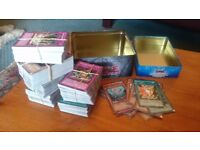 YuGiOh 600+ cards 50+ shiny ones, card collector book and maps included