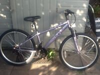 Lovely lady/s bike 26 wheel18 gears 14 frame can deliver for petrol no offers all ready to ride away
