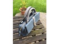 Accessorize handbag in blue grey